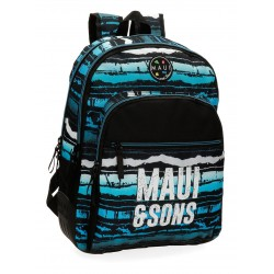 Mochila Grande de 44cm Doble Compartimento con Refuerzo  Adaptable a  Carro Maui Waves