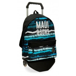 Mochila Grande 42cm con Bolso Frontal y con Carro Maui Waves