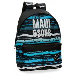 Mochila Grande 42cm con Bolso Frontal Adaptable a Carro Maui Waves
