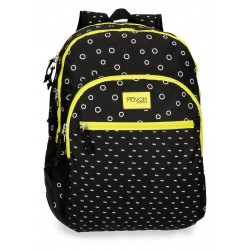 Mochila Grande 44cm Doble Compartimento con Refuerzos Laterales Adaptable a Carro Movom Bubbles en Amarillo