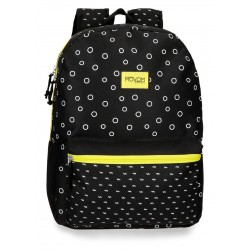Mochila Grande 42cm con Bolso Frontal Adaptable a Carro Movom Bubbles en Color Amarillo