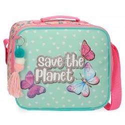 Portameriendas Juvenil con Asa y Bandolera Movom Save The Planet