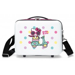 Neceser Rígido en ABS con Bandolera Hello Kitty Girl Gang Blanco