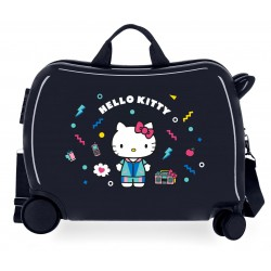 Maleta Infantil Correpasillos de 4 Ruedas Castle Of Hello Kitty