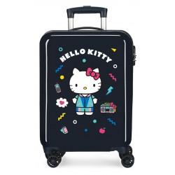Maleta de Cabina Rígida en ABS de 4 Ruedas Dobles Castle Of Hello Kitty