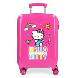 Maleta de Cabina Rígida en ABS de 4 Ruedas Dobles Hello Kitty You Are Cute en Color Rosa