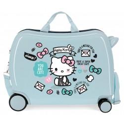 Maleta Infantil Correpasillos Hello Kitty You Are Cute en Color Azul