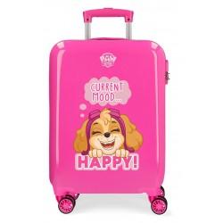 Maleta de Cabina Rígida en ABS de 4 Ruedas Patrulla Canina Playful en Color Rosa