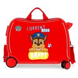 Maleta Infantil Correpasillos de 4 Ruedas Patrulla Canina Playful en Color Rojo