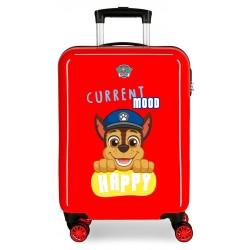 Maleta de Cabina Rígida en ABS de 4 Ruedas Patrulla Canina Playful en Color Rojo