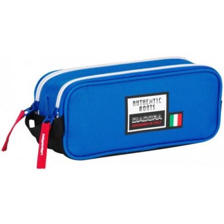 Portatodo Doble Cremallera Diadora en color Azul