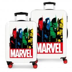 Juego Maletas Cabina y Mediana Rígidas en ABS Power Marvel