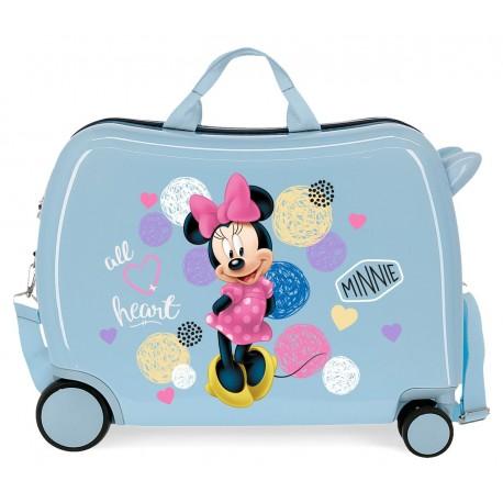 Maleta Infantil Correpasillos en ABS de 4 Ruedas, las delanateras multidireccionales, Love Minnie