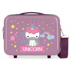 Neceser Rígido en ABS Adaptable a Trolley Roll Road Little Me Unicorn en color Lila