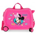 Maleta Infantil Correpasillos en ABS de 4 Ruedas  Minnie Happy Helpers en color Rosa