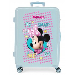 Maleta Mediana Rígida en ABS de 4 Ruedas Minnie Happy Helpers color Azul Claro