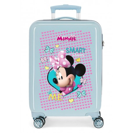 Maleta Cabina rígida en ABS de 4 Ruedas Minnie Happy Helpers en color Azul Claro
