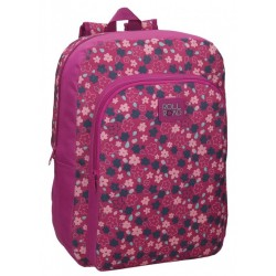 Mochila Grande 40 cm de un Compartimento Adaptable a Carro Roll Road en color  Fucsia