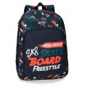 Mochila Grande 44 cm Adaptable a Carro y Cantoneras de Goma de Doble Compartimento Roll Road Freestyle