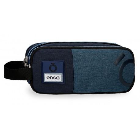 Portatodo Triple Compartimento con Asa Lateral Enso Colección Blue