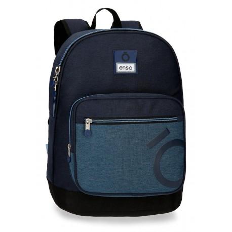 Mochila Portaordenador 15.6 pultadas con Bolso Frontal Adaptable a Carro Enso Colección Blue