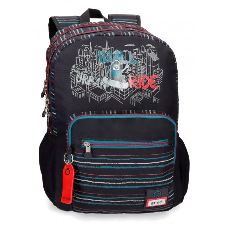 Mochila Grande 44 cm de Doble Compartimento Adaptable a  Carro Enso Wall Ride