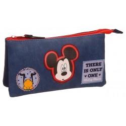 Portatodo Triple Compartimento Mickey Parches