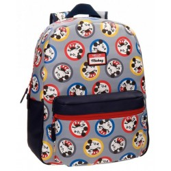 Mochila Grande 42 cm con Bolso Frontal Adaptable a Carro Mickey Circles