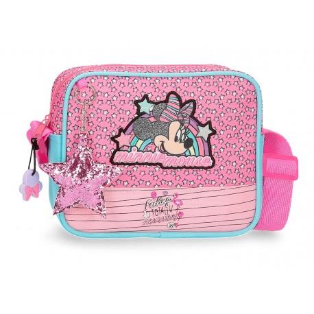 Bolso Bandolera cuadrado Minnie Colección Pink Vibes