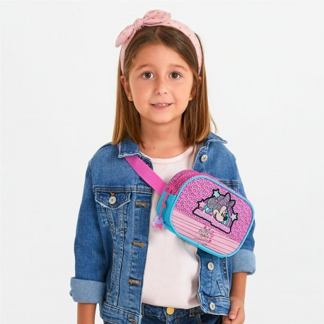 Riñonera Cruzada Minnie Colección Pink vibes