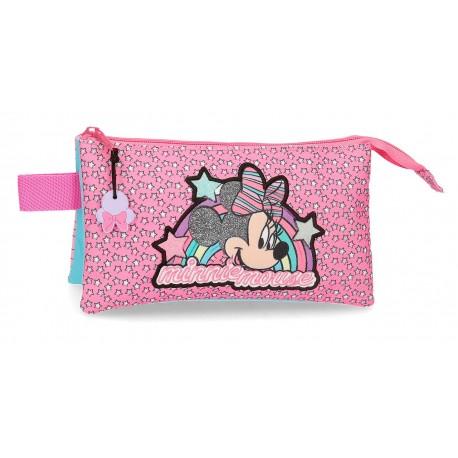 Portatodo de Tres Compartimentos Minnie colección Pink Vibes