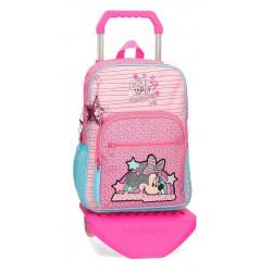 Mochila Mediana 38 cm con Carro Minnie Colección Pink Vibes