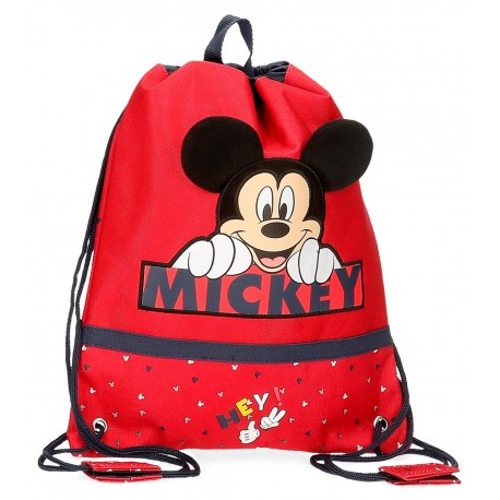 Saco de Cuerdas Mickey Happy en color Rojo