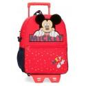 Mochila de Guardería 32 cm con Carro Mickey Happy en color Rojo