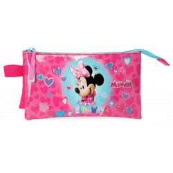 Estuche de Tres Compartimentos Minnie Help On The Day
