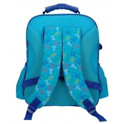 Mochila Mediana de 38 cm con Bolso Frontal  y Trasera Acolchada  Mickey Stars Azul