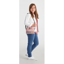 Bolso con Bandolera Semicircular Mickey The Blogger en color Rosa