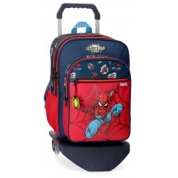 Mochila Grande de 40 cm de Doble Compartimento con Carro Spiderman colección Pop