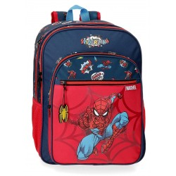 Mochila Grande de 40 cm de Doble Compartimento Adaptable a Carro Spiderman colección Pop