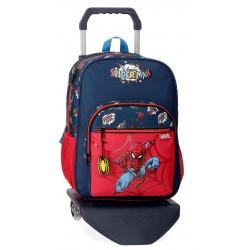 Mochila mediana de 38 cm de un compartimento con Carro Spiderman colección Pop
