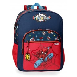 Mochila mediana de 38 cm de un compartimento Adaptable a Carro Spiderman colección Pop