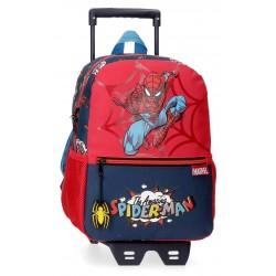 Mochila de Guardería de 32 cm con Carro Spiderman Colección Pop