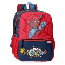 Mochila de Guardería de 32 cm Adaptable a Carro Spiderman Colección Pop