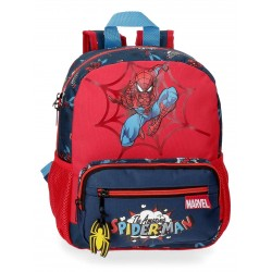 Mochila de Guardería de 28 cm Adaptable a Carro Spiderman Colección Pop