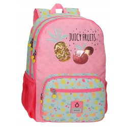Mochila Infantil Grande de 44 cm de doble Compartimento Adaptable a Carro Enso colección Juicy Fruit