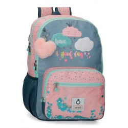 Mochila Infantil Grande 44 cm de Doble Compartimento Enso Good Day