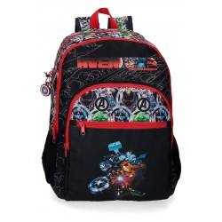 Mochila Grande 44 cm con Cantoneras de Goma de Doble Compartimento Adaptable a Carro Avengers Armour Up