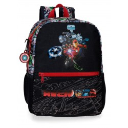 Mochila de Guardería de 32 cm Adaptable a ruedas Avengers Armour Up