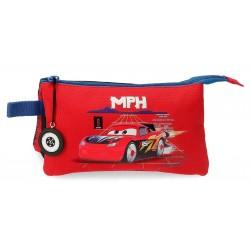Estuche de Tres Compartimentos de los Cars colección Rocket Racing