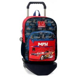 Mochila Infantil Mediana de 38 cm con Carro de los Cars colección Roquet Racing